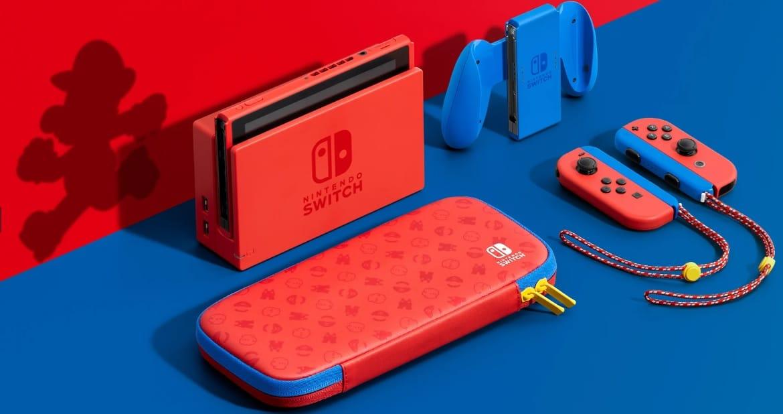 Nyt näyttää nätiltä: Nintendo paljasti Mario-värimaailmaa mukailevan Switch-konsolin